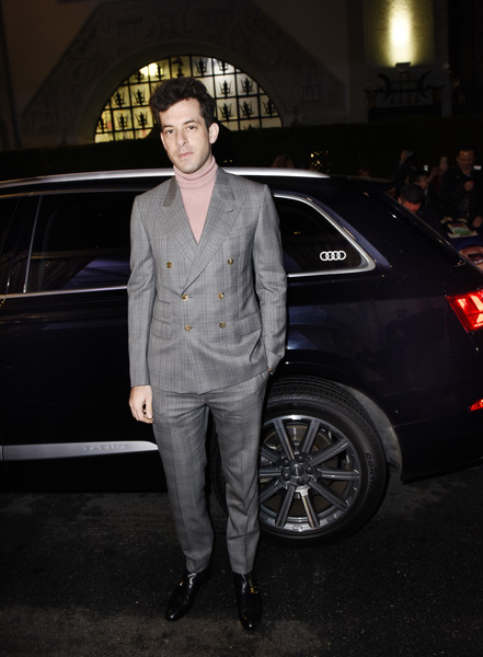 Audi Celebrates The World Premiere Of 'Spies In Disguise' [audi celebrates the world premiere of spies in disguise,luxury vehicle,car,vehicle,automotive design,fashion,suit,street fashion,vehicle door,audi,mid-size car,los angeles,california,mark ronson]