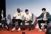 (L-R) Priya Khanchandani, Yinka Ilori, David Aguilar and Mark Ronson appearing at a debate hosted by The LEGO Group to discuss the importance of play in developing creativity on September 17, 2019 in Billund, Denmark.