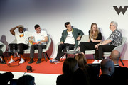 (L-R) Yinka Ilori, David Aguilar, Mark Ronson, Kate Robinson and Matthew Ashton appearing at a debate hosted by The LEGO Group to discuss the importance of play in developing creativity on September 17, 2019 in Billund, Denmark.