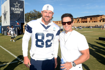 Mark Wahlberg Mark Wahlberg Attends The Dallas Cowboys Training Camp To Announce Wahlburgers Opening