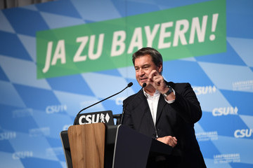 Markus Söder CSU Holds Final Campaign Event Ahead Of Bavarian Elections