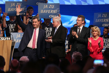 Markus Soeder CSU Holds Party Convention As Bavarian Elections Near