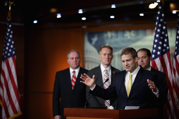 50th Anniversary on War on Poverty [economic opportunity act,event,official,speech,flag of the united states,flag,government,ceremony,news conference,speaker,gesture,r,steve scalise,jim jordan,james lankford,marlin stutzman,capitol hill,l-r,war on poverty,marks 50th anniversary on war on poverty]