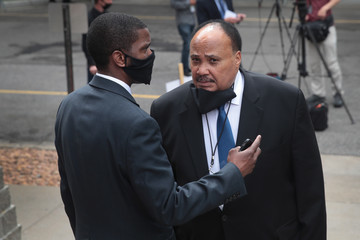 Martin Luther King III Memorial Service For George Floyd Held In Minneapolis