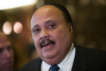Martin Luther King III Donald Trump Holds Meetings at Trump Tower