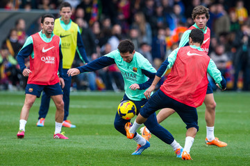 Martin Montoya FC Barcelona Training Session