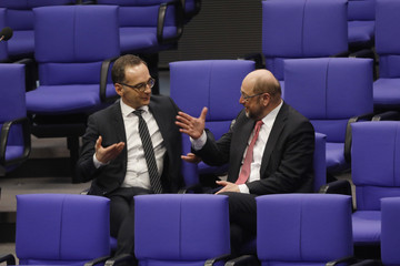 Martin Schulz Merkel Gives First Government Declaration Of New Government