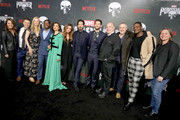 "Allie Goss, Jim O'Hanlon, Deborah Ann Woll, Royce Johnson, Amber Rose Revah, Giorgia Whigham, Jon Bernthal, Ben Barnes, Jeph Loeb, Steve Lightfoot, Jason R. Moore and Cindy Holland attend ""Marvel's The Punisher"" Seasons 2 Premiere at ArcLight Hollywood on January 14, 2019 in Hollywood, California."