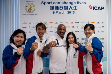 Marvelous Marvin Hagler Laureus Hong Kong Project Visit