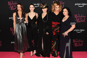 """Marin Hinkle, Rachel Brosnahan, Amy Sherman Palladino, Caroline Aaron and Alex Borstein attend the """"The Marvelous Mrs. Maisel"""" New York Premiere at The Paris Theatre on November 29, 2018 in New York City."""