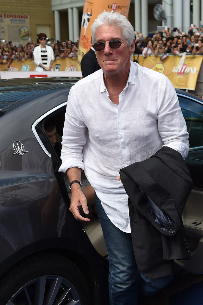 richard gere photos photos maserati arrivals at the