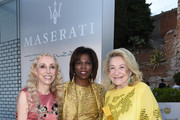 (from right) Executive Director of the United Nations World Food Programme Ertharin Cousin, Franca Sozzani and Marta Marzotto attend the 60th Taormina Film Festival on June 15, 2014 in Taormina, Italy.