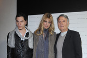 Roberto Amade', Filippa Lagerback and Massimo Rebecchi attend the Massimo Rebecchi fashion show as part of Milan Fashion Week Womenswear Autumn/Winter 2011 on February 25, 2011 in Milan, Italy.