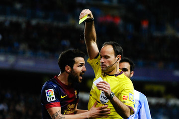 Mateu Lahoz Malaga CF and FC Barcelona - Copa del Rey Quarter Final