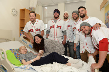 Matt Barnes Boston Red Sox Deliver Smiles and Laughter at Boston Children's Hospital With Holiday Caravan