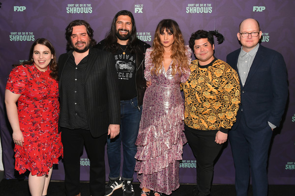 'What We Do In The Shadows' New York Premiere [what we do in the shadows,event,fashion,premiere,performance,fashion design,harvey guill\u00e3\u00a9n,natasia demetriou,matt berry,kayvan novak,beanie feldstein,mark proksch,l-r,metrograph,new york premiere]