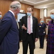 Matt Hancock The Prince Of Wales And The Duchess Of Cornwall Visit The Queen Elizabeth Hospital, Birmingham