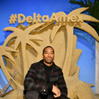 Matt James Lupita Nyong'o Celebrates The Relaunch Of The Delta SkyMiles® American Express Cards In New York City On February 6, 2020