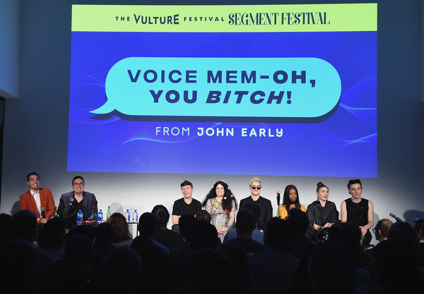 Vulture Festival Presented By AT&T - Milk Studios, Day 1 [text,academic conference,convention,event,technology,company,font,seminar,adaptation,presentation,matt rogers,sydnee washington,dave mizzoni,pat regan,bowen yang,annie donley,l-r,milk studios,at t,vulture festival]