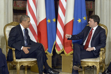 Matteo Renzi Barack Obama Meets with Matteo Renzi