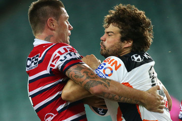 Matthew Bell NRL Trial Match - Roosters v Tigers