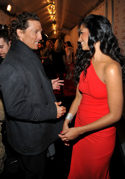 Matthew McConaughey Matthew McConaughey (L) and Camila Alves attends the Heart Truth's Red Dress Collection 2011 during Mecerdes-Benz fashion week at The Theatre at Lincoln Center on February 9, 2011 in New York City.