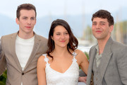"(L-R) Pier-Luc Funk, Catherine Brunet and director Xavier Dolan attend the ""Matthias et Maxime (Matthias and Maxime)"" Press Conference during the 72nd annual Cannes Film Festival on May 23, 2019 in Cannes, France."
