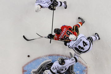 Max Reinhart Los Angeles Kings v Calgary Flames