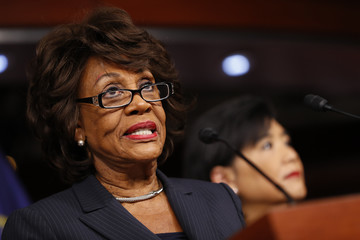 Maxine Waters Rep. Maxine Waters Holds Press Conference On Russian Ties To Trump Administration
