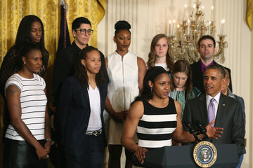 Maya Moore Barack Obama Hosts Minnesota Lynx