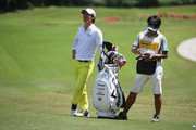 Ryo Ishikawa of Japan waits to play his second shot on the par four 9th hole hole during the third round of the Maybank Championship Malaysia at Saujana Golf and Country Club on February 3, 2018 in Kuala Lumpur, Malaysia.