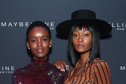 Flaviana Matata and Dani Evans attend the Maybelline New York Fashion Week party on September 07, 2019 in New York City.
