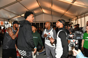 """John Collins, Jay Williams, and Brandon """"BdotAdot"""" Armstrong attend B/R x NC with McDonald's to Celebrate McDonald's All American Games during Pro Basketball's Biggest Weekend at The Underground on February 17, 2019 in Charlotte, North Carolina."""