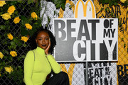 Justine Skye attends the kick off of McDonald's Beat Of My City at Pier 36 on September 21, 2019 in New York City.