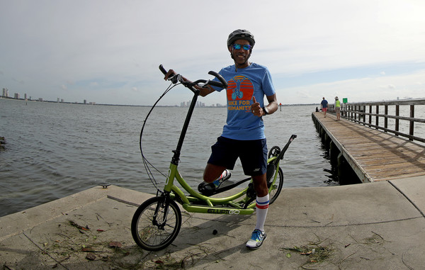 Bill Walton's Bike For Humanity II [vehicle,bicycle,recreation,cycling,sports equipment,bicycle wheel,vacation,wheel,bike for humanity ii,bikes,bicycle,road bicycle,vehicle,bill walton,meb keflezighi,water,recreation,tampa,hybrid bicycle,flatland bmx,bmx bike,bicycle,road bicycle,water]
