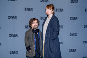 """Peter Dinklage and Erica Schmidt attend """"Medea"""" Opening Night at BAM Harvey Theater on January 30, 2020 in New York City."""