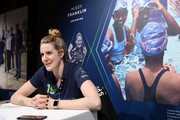 Laureus Academy Member, Missy Franklin speaks during Media Interviews for the 2019 Laureus World Sports Awards on February 17, 2019 in Monaco, Monaco.