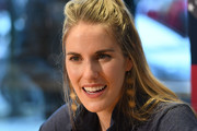 Laureus Academy Member Missy Franklin speaks during an interview at the Mercedes Benz Building prior to the Laureus World Sports Awards on February 16, 2020 in Berlin, Germany.