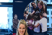 Laureus Academy Member Missy Franklin poses during media interviews at the Mercedes Benz Building prior to the Laureus World Sports Awards on February 16, 2020 in Berlin, Germany.