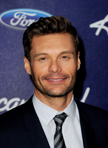 Host Ryan Seacrest arrives at Fox's American Idol finalist party at The Grove on March 1, 2012 in Los Angeles, California.