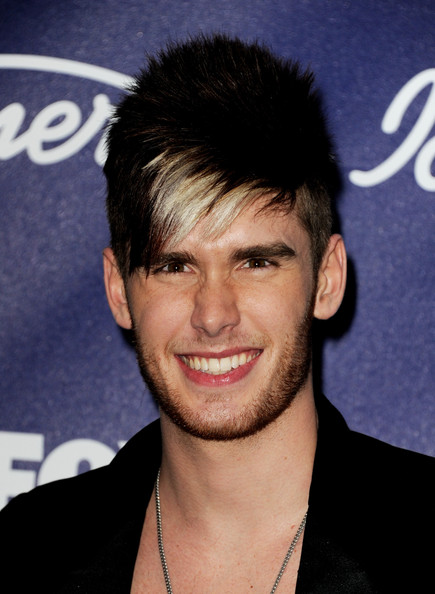 Singer Colton Dixon arrives at Fox's American Idol finalist party at The Grove on March 1, 2012 in Los Angeles, California.