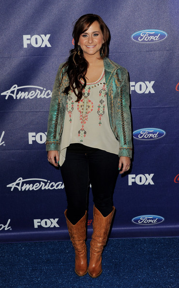 Singer Skylar Laine arrives at Fox's American Idol finalist party at The Grove on March 1, 2012 in Los Angeles, California.