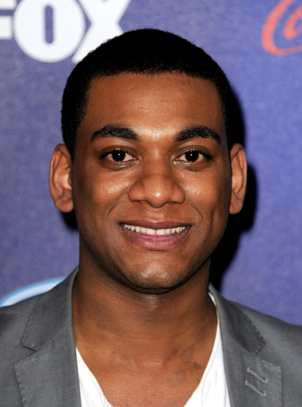 Singer Joshua Ledet arrives at Fox's American Idol finalist party at The Grove on March 1, 2012 in Los Angeles, California.