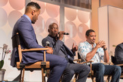 (L-R) DeVon Franklin, John Singleton, and Laz Alonso take part in the MegaFest Leading Men In Hollywood Panel at the Omni Hotel on June 29, 2017 in Dallas, Texas.