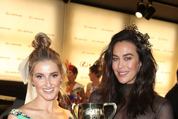 Megan Gale Celebrities Attend Melbourne Cup Day