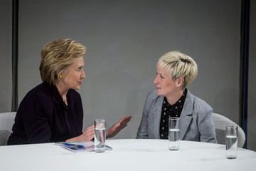 Megan Rapinoe Democratic Presidential Candidate Hillary Clinton Attends Roundtable on Pay Equality in New York