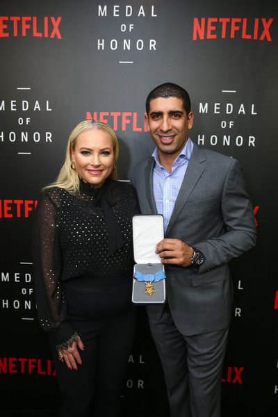 Medal Of Honor Screening & Panel Discussion Moderated By Meghan McCain At The US Navy Memorial Burke Theater In Washington, DC