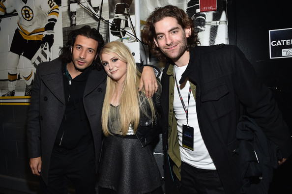 KISS 108's Jingle Ball 2014 - Backstage [event,premiere,fashion,suit,style,nasri,ben spivak,meghan trainor,l-r,boston,massachusetts,td garden,kiss 108,market basket supermarkets,jingle ball 2014 - backstage]