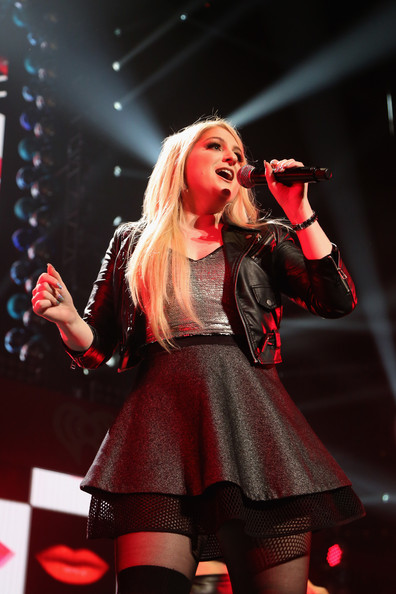 KISS 108's Jingle Ball 2014 - Show [performance,entertainment,music artist,singing,performing arts,red,singer,music,pop music,public event,meghan trainor,boston,massachusetts,td garden,kiss 108,market basket supermarkets,jingle ball 2014 - show]