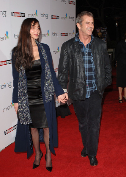 Oksana Grigorieva and Mel Gibson - The Hollywood Reporter's Oscar Nominee Dinner - Arrivals
